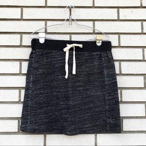 LOFT Heather Gray Sweatshirt Skirt With Tie Waist